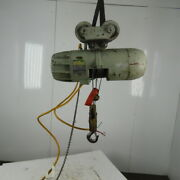Pandh 1 Ton Wire Rope Electric Hoist 15and039 Lift 20fpm 230/460v 3ph W/trolley