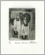 Double Dating Couples Original Etching Signed Limited-edition Art Print