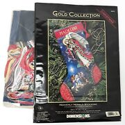 Dimensions Stocking Cross Stitch Kit Heavenly Herald Angel Gold Collection 8639