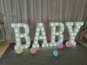 Us Seller Baby Led Letter Sign Party Wedding Birthday Baby Shower Annualversary