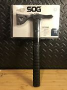 Sog Fasthawk Stainless Steel Black Fixed Axe Head Blade Grn Handle Ax F06tncp