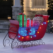 Christmas Led Pre-lit Holiday Vintage Sleigh Indoor Outdoor Yard Art Decoration