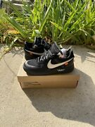 Size 9 - Nike Air Force 1 Low X Off-white Black 2018 In Very Good Condition