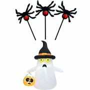 Hollo Star Halloween Decorations Furry Hairy Spider Stake And Inflatable Yard...