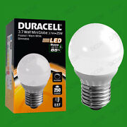 25x 3.7w Dimmable Duracell Led Pearl Mini Globe Instant On Light Bulb Es E27