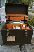Vintage 1962 Vietnam Era Us Army Mess Kit Dishes Silverware Pots Pans And Tx Trunk