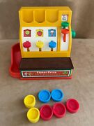 Vintage Fisher Price 1974 926 Cash Register With 6 Coins Toy Check Out