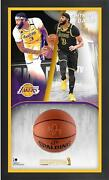 Anthony Davis Lakers Frmd 24 X 40 2020 Finals Champs Shadowbox And Signed Ball