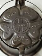 Griswold Cast Iron Waffle Iron 18 With High Bailed Ring
