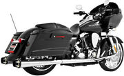 Freedom American Outlaw Dual Exhaust System Chrome Body With Black Tip Hd00281