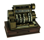 Scratch And Dent Old Fashioned Metal Cash Register Sculpture With Drawer