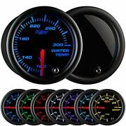 Glowshift Tinted 7 Color 300 F Water Coolant Temperature Gauge Kit