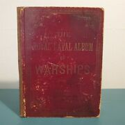 Antique Book The Royal Naval Album Of Warships D.w. Smith High Street Germany