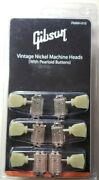 Gibson Deluxe Nickel Machine Heads Pearloid Buttons Les Paul / Genuine Pmmh-010