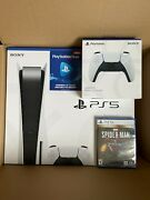 Sony Playstation 5 Ps5 Console Disc Version Bundle Spider-man Controller Psn