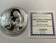 Anne Stokes Water Dragon 5 Ounce .999 Silver Proof Coin 2 Signed By Anne Stokes