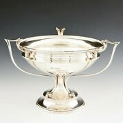 A Substantial Sterling Silver Art Nouveau Footed Bowl Sheffield 1909