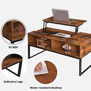 Lift-up Top Coffee Table W/hidden Storage Compartment And Shelf Coffee Table Usa