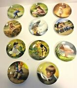 Donald Zolan Plate Collection Pemberton And Oakes Lot Of 11 Small 3 Plates