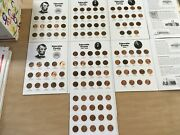 Complete Circ.set- Lincoln Memorial Cents 1959 - 2021 In Fullcolor Coin Folders