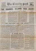 The Evening Post 1945 The Channel Islands Free Again Paper Ephemera Collectible