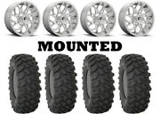 Kit 4 System 3 Xtr370 Tires 35x10-20 On Fuel Runner Polished D204 Wheels Can