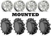 Kit 4 High Lifter Outlaw 3 Tires 35x9-20 On Fuel Runner Polished D204 1kxp