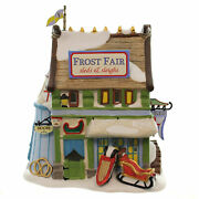 Dept 56 Buildings Frost Fair Sled And Sleigh Rental Porcelain Dickens 4044805