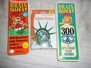 Lot Of 2 Brain Quest And United States Flash Cards Age 5 6 Kindergarten