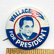 George Wallace For President Alabama Governor 1.5 Pinback Button Jj7
