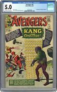 Avengers 8 Cgc 5.0 1964 3830924008 1st App. Kang The Conqueror