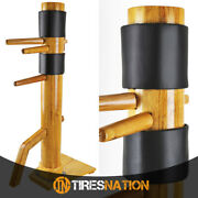Traditional Solid Wood Standing Training Dummy Wing Chun Ip Man Martial Art
