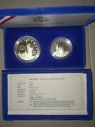 United States 1986 Liberty Silver Proof Coin Set 1 And Half Box And Cert