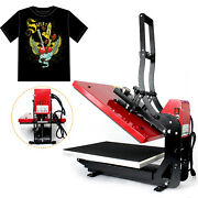 Heat Press Machine 16x20 Auto Open Clamshell T Shirt Press For Clothes Bags 2kw