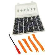 Car Bumper Cover Fender Liner Push Type Retainer Clips+tool 328x Black Fasteners