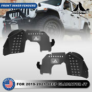 Wolfstorm Front Inner Fender For 19-21 Jeep Gladiator Jt Liners Powder Coated