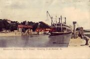 Pre-1907 Steamboat Entering Gov't Canal. Greeting From Keokuk, Ia 1907
