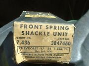 Vintage Gm 1947-1953 Truck Front Spring Shackle Unit 1 Ton Chevy