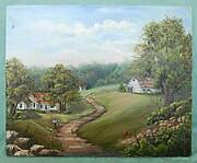 Home On The Range Western Ranch Vintage Folk Painting Architecture Sue Raymond
