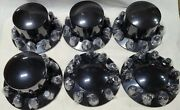 Commercial Truck Wheel Gloss Black Hub Cap And Lug Nut Cover Kit 2 Front 4 Rears