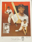 Monte Irvin And Christopher Paluso Signed18x24 Artist Proof Lithograph 18/50 Jsa