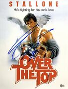 Sylvester Stallone Signed Over The Top 80s 16x20 Photo Bas Ab48027