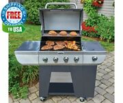 Cuisinart Deluxe Four-burner Propane Outdoor Bbq Gas Grill W Side Burner And Wheel