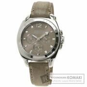 Coach Game Ca.43.3.14.0444 Round Face Wristwatch Stainless Steel Leather Women