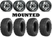 Kit 4 Itp Ultracross R-spec Tires 32x10-15 On Fuel Anza Gray D558 Wheels Can