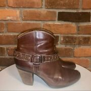 Soffit Brown Studded Boots Womens Size 7