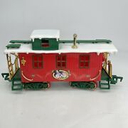 Vintage 1986 New Bright Christmas Frosty The Snowman Train Caboose Santa