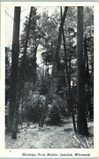 1940s Greetings From Boulder Junction Wisconsin Real Photo Postcard
