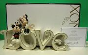 Lenox Mickey And Minnie True Love Sculpture New In Box With Coa Mouse