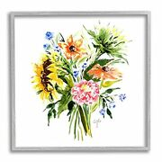 Stupell Industries Summer Floral Blooming Bouquets Vivid Country Flowers Desi...